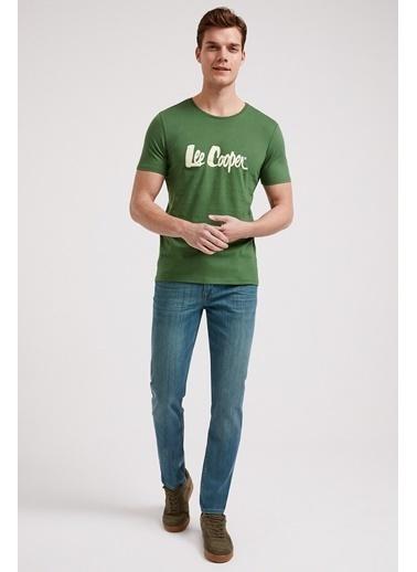 Lee Cooper Erkek Siyah Londonlogo  Tişört 202 LCM 242011 Yeşil